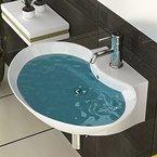 Badezimmer Hand Waschbecken Sanitärkeramik Zeitloses Waschbecken Keramikbecken Ovales Becken Waschbecken