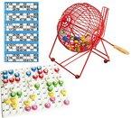 Bingo-Set (Käfig, Kugeln und Kontrollbrett)