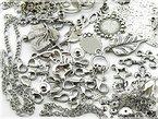 """Riesiges Anfängerset """"Silberschmuck basteln"""" mit über 400 Teilen von Vintageparts, zum basteln von Anhängern, Ohrringen, Ketten und vielem mehr"""