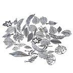 Souarts 1 Set Antik Silber Farbe Blatt Schmuckzubehör Basteln Charms Anhänger Für Halskette Armband 20St