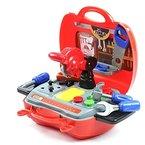 DiBang Werkzeug Spielzeug Werkzeugkoffer Werkzeugkasten mit Werkzeug für Kinder Groß