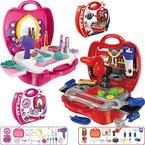 Werkzeug-Koffer SET (19-teilig) Kinder Werkstatt Werkzeugkasten (Werkzeug-Set Koffer)