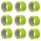 9 x Reflektorbänder Gelb Sicherheit für Schulweg Fahrrad Kinder Taschen