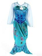 Meerjungfrau Kostüm Mädchen - Kinderkostüm Nixe - Mermaid - Blau - Gr. 140 - 8-10 Jahre