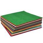 SOLEDI Filzplatten Bastelfilz Filz-Blätter (60 Farbe-30cm*30cm)
