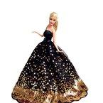 """Creation® Schwarz Versuchung Fantasie Handgemachte Hochzeit Kleid für 11.5 """"barbie Doll- Schwarz"""