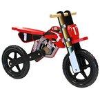 Kinder Laufrad im Motorrad-Stil - Lernrad für Mädchen und Jungen - Holz - Rot