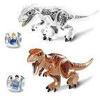 ROSENICE Holzbausteine - ROSENICE Jurassic Park Dinosaurier Bausteine Miniatur Action-Figuren, 33,5 * 23 * 10,5 cm