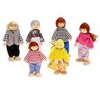 Hrph Wooden Miniature Dollhouse-Möbel Spielzeug Set Schlafzimmer Küche Abendessen Zimmer Badezimmer Wohnzimmer Pretend Play-Spielzeug für Mädchen