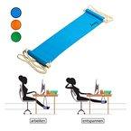 Amazy Fuß Hängematte - Praktische Fußstütze zur Entspannung und Entlastung im Büro (Blau)