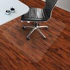 etm® Bodenschutzmatte 75x120cm Hartboden | extra transparent und rutschfest | optimales Gleitverhalten für Stuhlrollen | weitere Größen mit und ohne Lippe wählbar