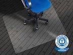 etm® Bodenschutzmatte - 110x90cm | TÜV / Blauer Engel | transparent, mit Ankernoppen für Teppichböden