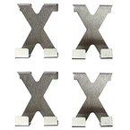 COM-FOUR® 4x Edelstahltürhaken Türhaken Kleiderhaken Haken in X-Form (4 Stück)