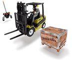 Dickie Toys 201119886 - RC Forklift, funkferngesteuerter Clark Gabelstapler inklusive Batterien, 24 cm