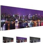Bilder !!! SENSATIONSPREIS !!! Bild - New York NY Wandbild - 3 Farben zur Auswahl - 100 x 40 cm - Fertig Aufgespannt - TOP Vlies Leinwand - Kunstdruck !!! 100 % MADE IN GERMANY !!! 601912b