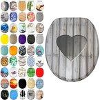 WC Sitz, viele schöne WC Sitze zur Auswahl, hochwertige und stabile Qualität aus Holz (Wooden Heart)