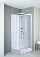 DUSAR Komplettdusche Fertigdusche Astoria 80 cm, 195 cm hoch Eckdusche Eckeinstieg mit vier Wänden rundum geschlossen Duschkabine Dusche