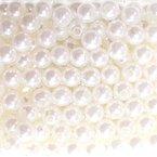 250 x Kunstperle 8mm Perlen Wachsperlen Dekoperlen Bastelperlen mit Loch, Farbe:weiß