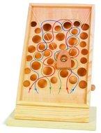 Kletterpfad aus Holz, schönes Geschicklichkeitsspiel mit bunt eingezeichneten Pfaden, kann auf jeder Tischplatte platziert werden, zur Schulung der Motorik