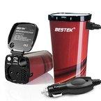 BESTEK Tasseförmiger KFZ Wechselrichter 200W mit 2 USB Anschlüsse + Zigarettenanzünder-Adapter