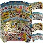 25x Kleine Bögen Mit Kinder Aufkleber Sticker - Viele Motive
