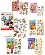 """1 Stickerblock - mit 100 Stück _ Aufkleber / Sticker - """" Disney Planes - Mickey Mouse - Winnie the Pooh - Bambi """" - selbstklebend - Stickerblock - für Jungen - Stickerset Kinder - z.B. für Stickeralbum / Kindersticker - für Stickerbuch"""