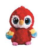 YooHoo & Friends Plüschtier Papagei, roter Vogel Lora, Kuscheltier ca. 13 cm, im Set mit 7ml Bodybutter