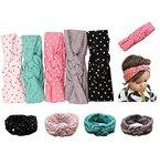 Jastore® Baby Turban Mädchen Kinder Stirnband Kopfband Haarband Haarschleife Headband Haarschmuck (Style 7 (5 Stück))