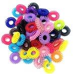cuhair(tm) 100 Stück(zufällige Farbe) Frauen Mädchen Kinder Pferdeschwanzhalter Haargummi Haarseil Harrband Haarschmuck