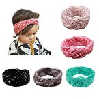 Enuo Baby Turban Mädchen Kinder Stirnband Kopfband Haarband Headband Haarschmuck