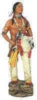 Dekofigur Indianer mit Schild und Tomahawk Ureinwohner Indio amerikanische Geschichte Figur Indianer