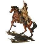Indianer Figur auf Pferd