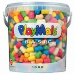 PlayMais 160027 - PlayMais Basic 1000 Eimer, über 1000 Teile