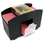 Elektrischer Kartenmischer für Pokern Automatischer Pokerkarten Mischer Kartenmischmaschine XXL für 4 Decks