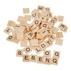 100 Holz-Alphabet Scrabblefliesen Schwarzen Buchstaben Und Zahlen Für Das Kunsthandwerk Holz S