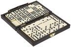 Philos 3601 - Domino, Doppel 9, in Kunststoffkoffer, Legespiel