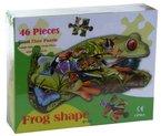 Riesen Konturen-Puzzle Frosch 92 x 52 cm, 46 Teile