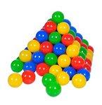 Knorrtoys 56789 - Bälleset - 100 bunte Plastikbälle/ Bälle für Bällebad im Netz, 6 cm Durchmesser, in Farbmischung blau / rot / gelb / grün, ohne gefährliche Weichmacher, TÜV-Rheinland Testbericht v. April 2016