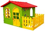 Spielhaus Kinderspielhaus mit Terrasse XXL für drinnen und Draußen Gartenhaus Kinderhaus Kinder Spiel Haus Gartenhaus by Keny Toys