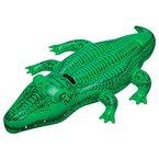 """Intex 58546NP, Aufblasbares Reittier - Schwimmtier - Badetier """"Kleines Krokodil"""" in ca. 168 x 86 cm mit robustem Haltegriff"""