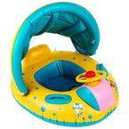 Peradix Aufblasbares Kinderboot Beach Sommer Hingucker für Wasserspaß Familienspaß in See Meer & Schwimmbad umweltfreundlich PVC
