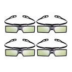 4pcs Pergear 144Hz DLP-Link Active Shutter 3D Brille für Optoma/BenQ/Acer/ LG Projector 3D Beamer und Projektor