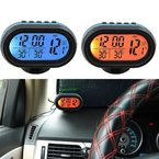 Hengda® 12V Auto KFZ Digital Uhr LCD Thermometer Voltmeter Spannungstester Multifunktion