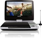 Philips PD9025/12 Tragbarer DVD-Player (23 cm (9 Zoll) LCD, DVB-T, USB,  DVD-RW) silber