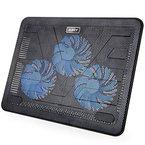 AUKEY Laptop Kühler 17 Zoll Notebook Cooler Ständer Cooling Pad mit USB Port und 3 LED Lüftern Kühlpad Kühlmatte für Macbook Laptop Notebook
