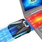KLIM Cool Universaler Kühler für Spielekonsole Laptop PC - Hochleistungslüfter für schnelle Kühlung - USB Warmluft-Abzug (Blau)