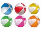 R5A1 Wasserball Strandball aufblasbar ca. 28 cm Wasserspielzeug G1 (R509 Rot-Weiss)
