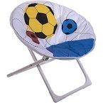 Kinder Klappstuhl Fussball für drinnen oder draußen, abwaschbare Sitzfläche - Kinderstuhl Camping Garten Stuhl Kinder Zimmer Möbel