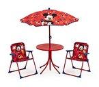 Garten Tischset Kinder Stühle Tisch Sonnenschirm Klappstuhl Gartenmöbelset Mickey Maus