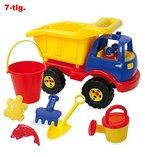Sandspielzeug, Eimergarnitur Kipper 7-tlg., Spielzeug,Gießkanne,Förmchen,Rechen